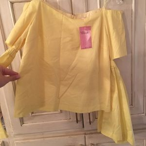 Yellow top new with tags